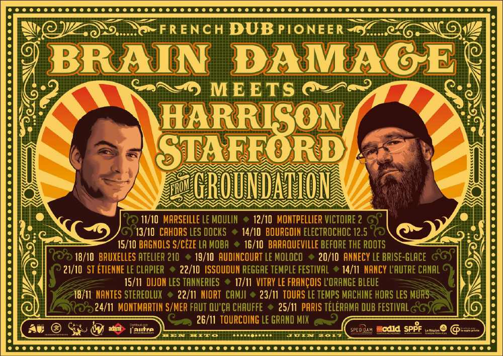 Brain Damage & Harrison Stafford - Liberation Time Tour 2017
