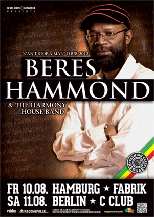 Beres Hammond Tourposter