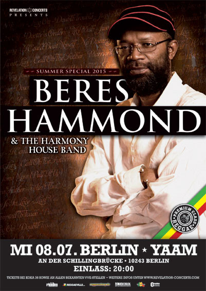 Beres Hammond - YAAM Flyer