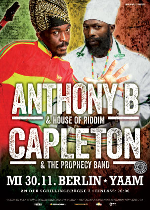 Capleton + Anthony B - Poster