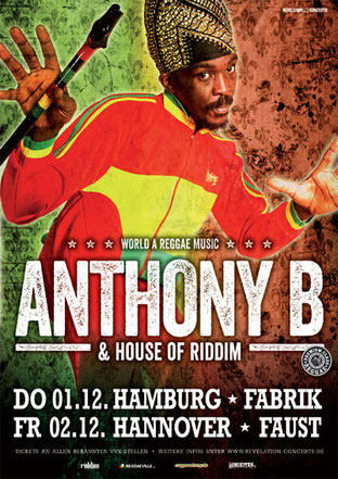 Anthony B - Poster - Hamburg + Hannover