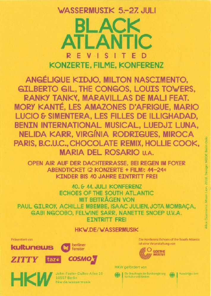 Wassermusik - Black Atlantic Revisted - HKW Berlin Flyer - Backside