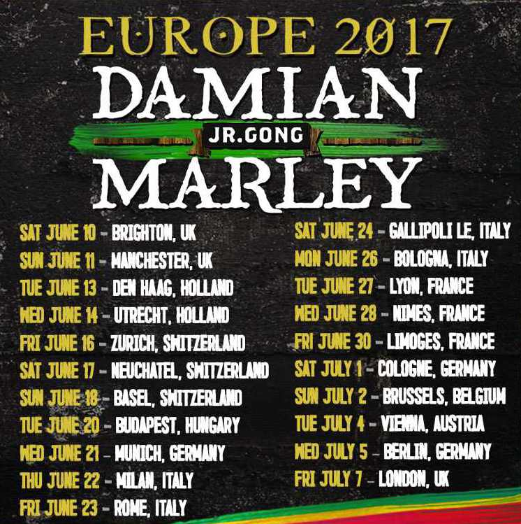 Damian Marley - Europe Tour 2017