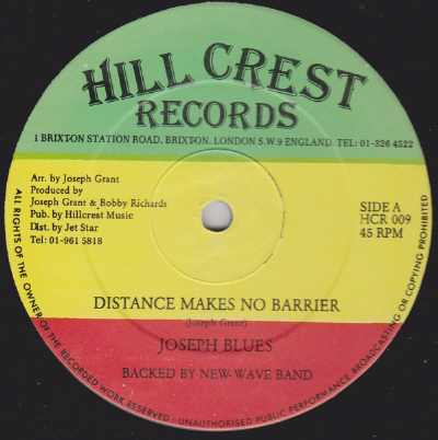 Joseph Grant - Distance Makes No Barrier - Single 1996