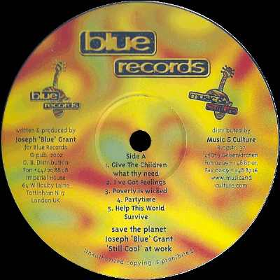 Joseph Blue Grant - Still Cool At Work - Vinyl Album 2002 - Seite A