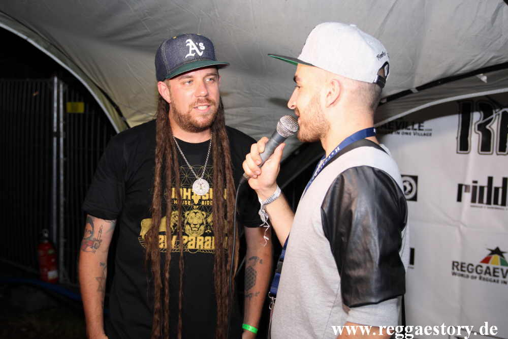 Jah Sun beim Interview