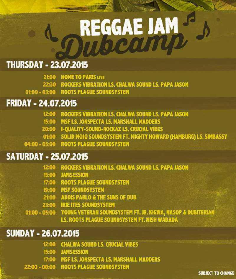 Running Order Dubcamp