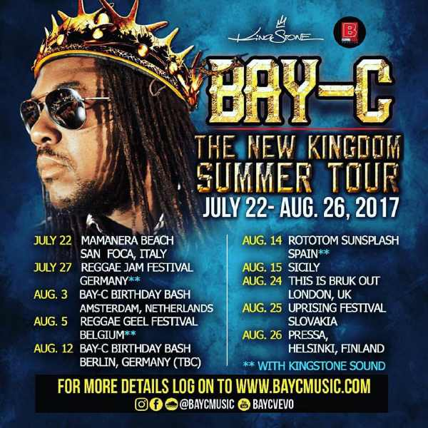 Bay-C - The New Kingdom Summer Tour 2017