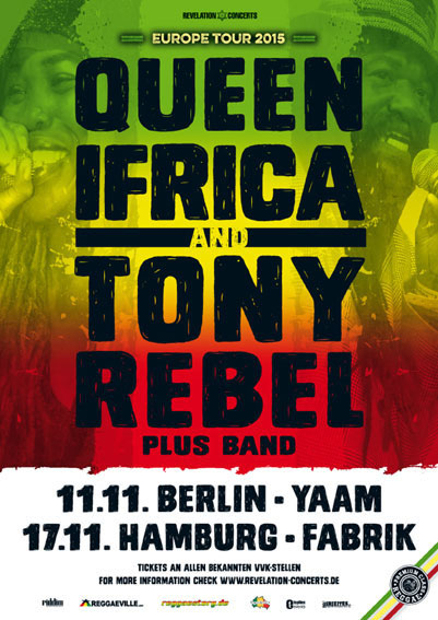 Tony Rebel & Queen Ifrica - YAAM Flyer