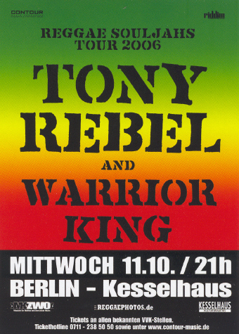 Tony Rebel & Warrior King