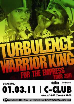 Turbulence - Warrior King - Flyer