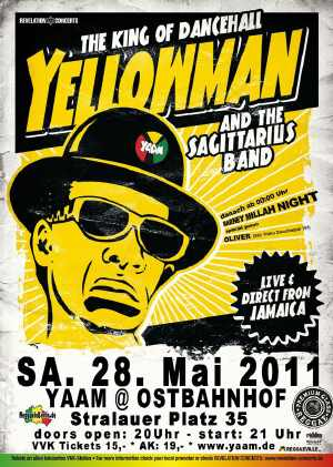 Yellowman - YAAM Flyer