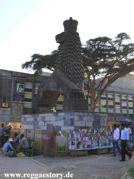 Addis Ababa - Steinerner Lion of Juda